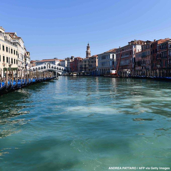 GALERÍA: TRAS AUSENCIA DE TURISTAS EN VENECIA SE LIMPIAN CANALES