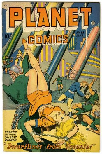 Cover scan of Planet Comics, No. 53, Fiction H...