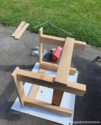 tuto fauteuil de jardin en bois de palette