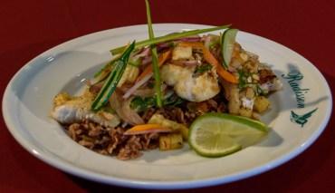 Cashew crusted fish-