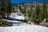 Last snow drift crossing before the lake