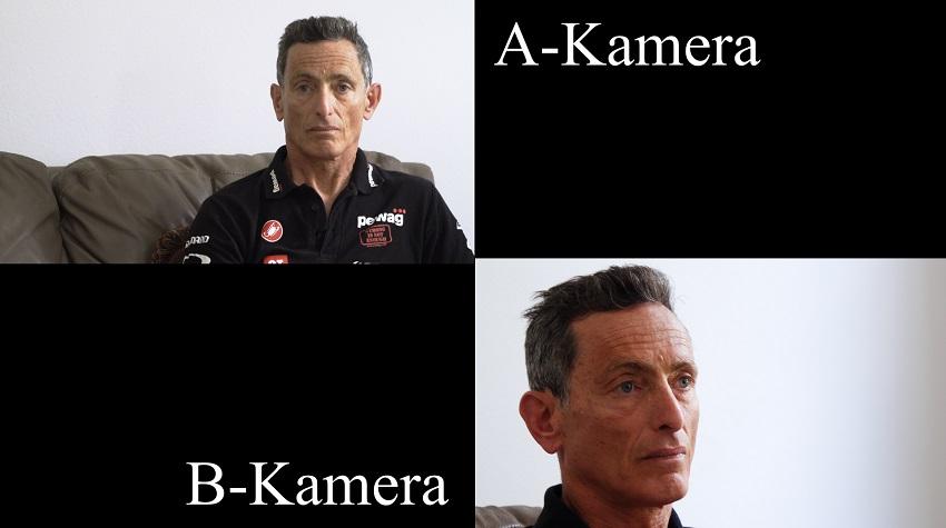 Unterschied zwischen direkter Position der A-Kamera und seitlich versetzter B-Kamera