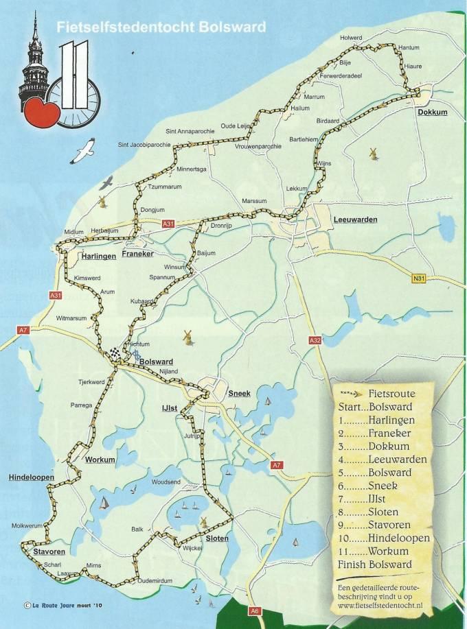 Fietselfstedentocht Route
