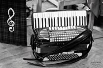 Ceilidh Club band's accordion