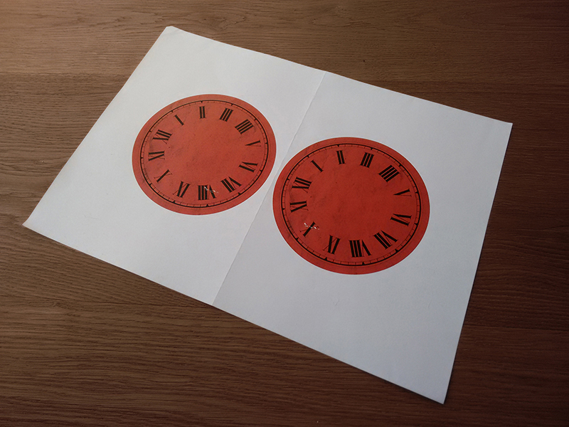 Clock face prints