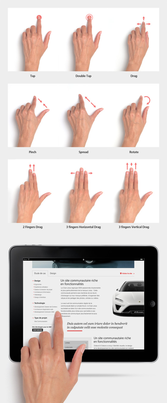 free-touch-gesture-stock-images