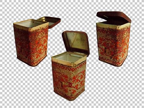 Rusty tea box
