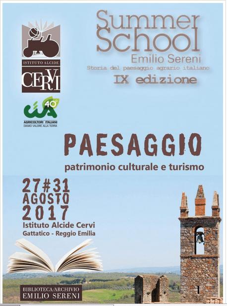 Summer school - Paesaggio, patrimonio culturale e turismo
