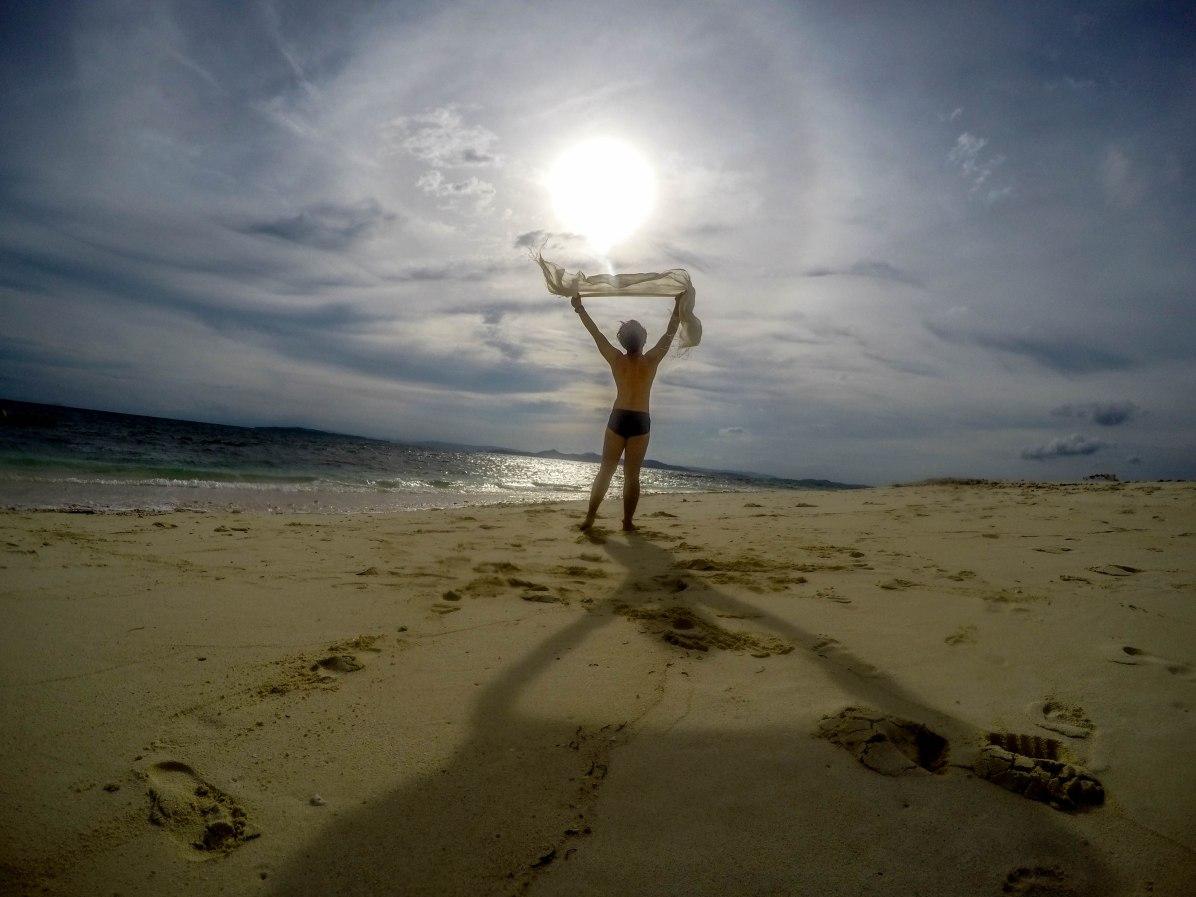 almost naked at Naked Island, Siargao
