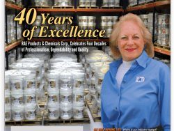RAE Products & Chemicals Corp., Celebrates Four Decades Of Professionalism, Dependability, and Quality