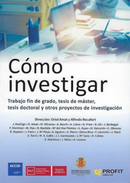 """Portada del libro """"Como Investigar"""" RAED - ACCID - UPF"""