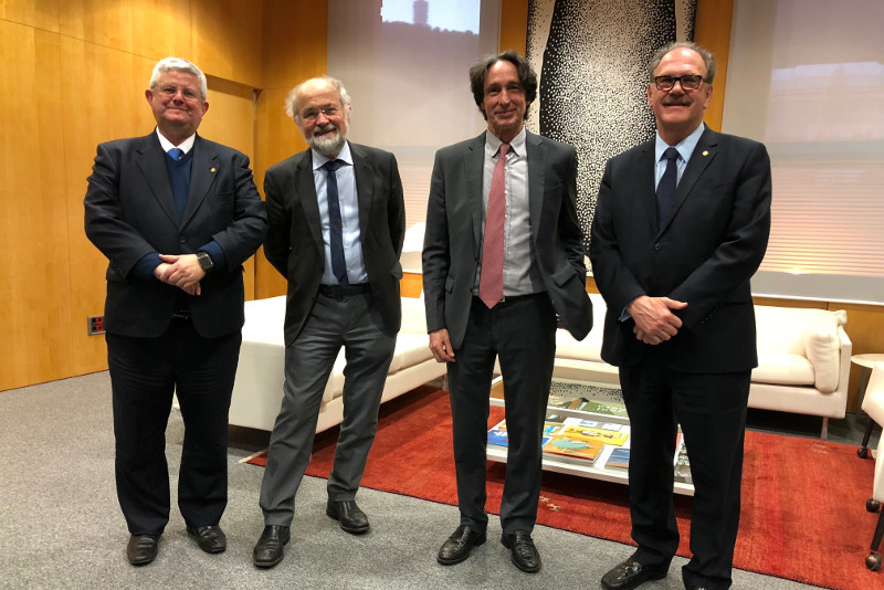 Dr. José Ramón Calvo - Dr. Erwin Neher - Dr. Jordi Portabella - Dr. Alfredo Rocafort