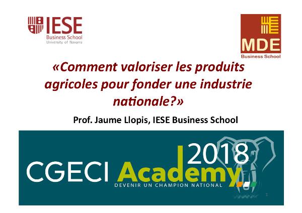 como valorar los productos agrícolas - por el Prof. Jaume Llopis