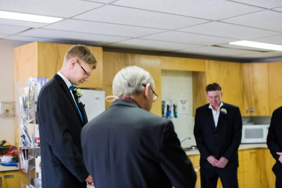 Prayers before the ceremony