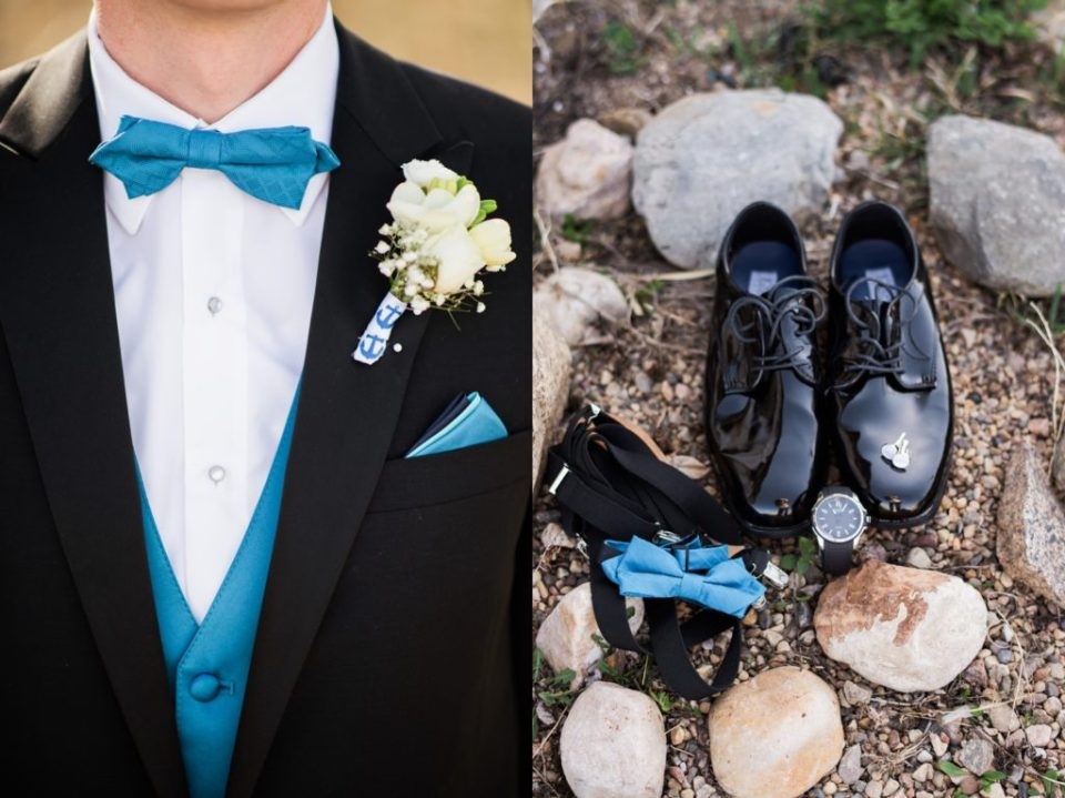 Sharp details for your groom