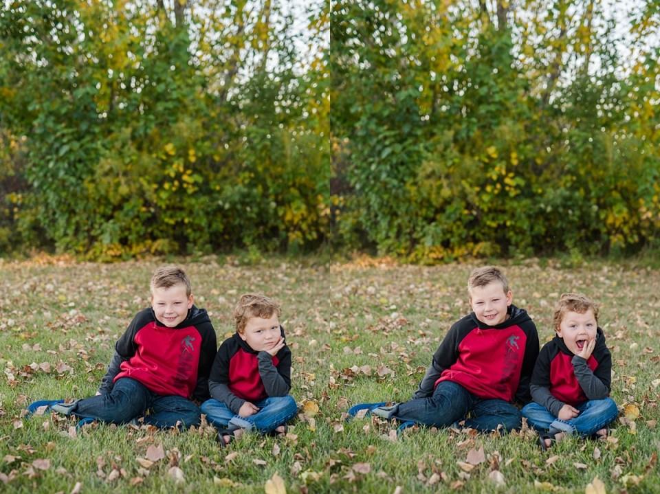 Fun Fall Photos | Red Deer Photographers | The Renschler Boys
