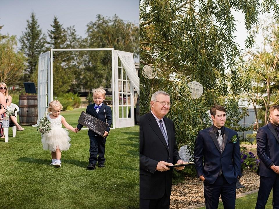 Rustic Alberta Outdoor Wedding | Red Deer Photographers | Stettler Photographers | Mason jars and paper lanterns wedding decor | Fishing themed wedding reception