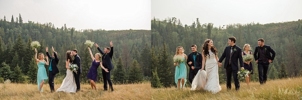 Rustic Alberta Outdoor Wedding | Red Deer Photographers | Stettler Photographers | Mason jars and paper lanterns wedding decor | Fishing themed wedding reception