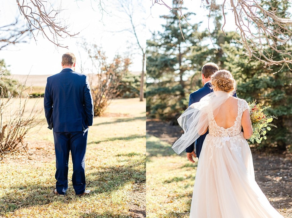 Navy Blue and Burgundy Fall Wedding | Eatonia, Saskatchewan | Kindersley Wedding Photographers