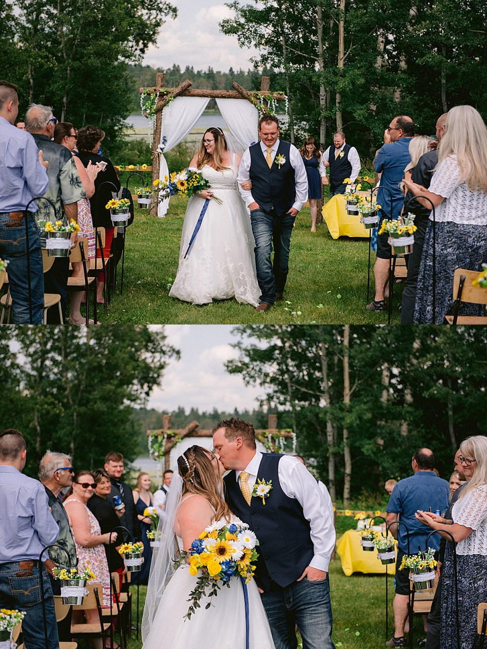 A Navy and Yellow Wedding at Watipi | Watipi Campground | Blackfalds, AB