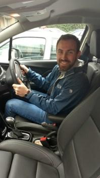 James driving