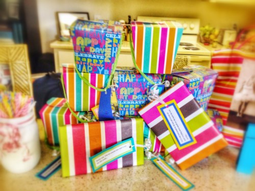 Birthday Mantle Ideas // Birthday Gifts // Gift for Each Day of Birthday Month