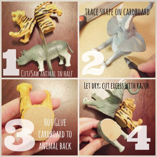 DIY Animal Magnets // Gold Animals // Rae of Sparkles