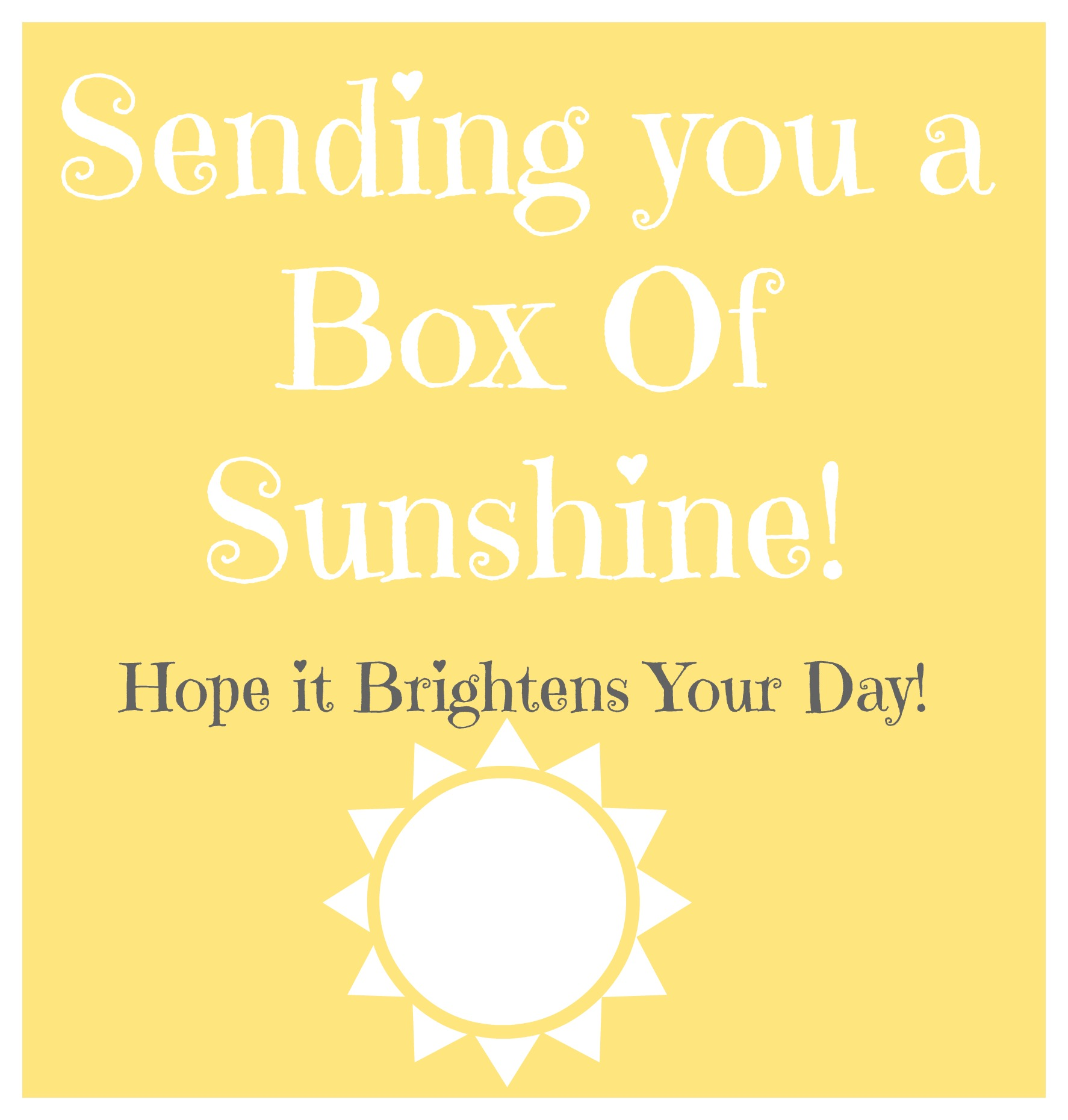 picture relating to Box of Sunshine Printable identify Rae of Sunlight!