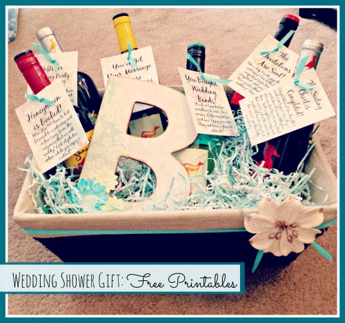 Wedding Shower Gift Idea // Free Printables // Rae of Sparkles