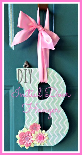 DIY Letter Door Hanger // Rae of Sparkles