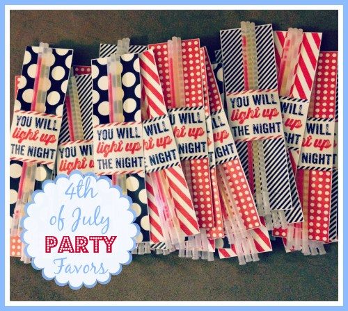Fourth of July Favors // Glow Sticks // Party Favors