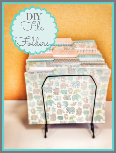 DIY Desk File Folders // Desk Makeover