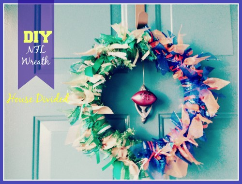 DIY NFL Wreath House Divided 2