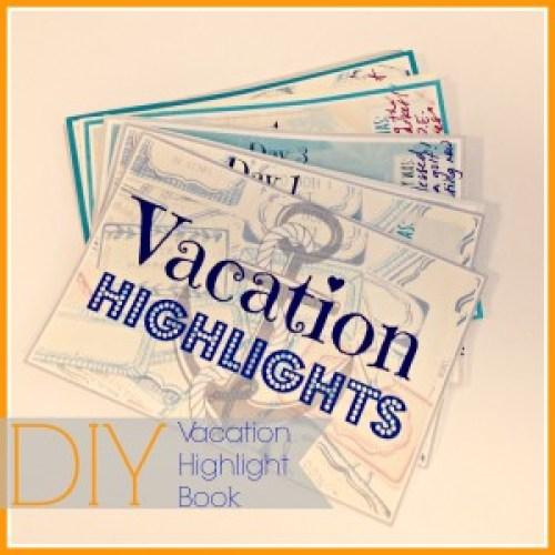 DIY Vacation Highlight Book