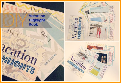 DIY Vacation Highlights Book