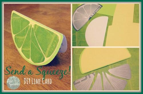 DIY Lime Slice Card