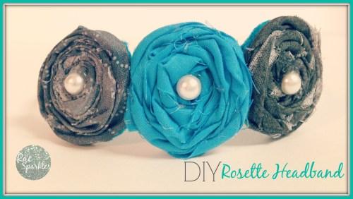 DIY Rosette Headband