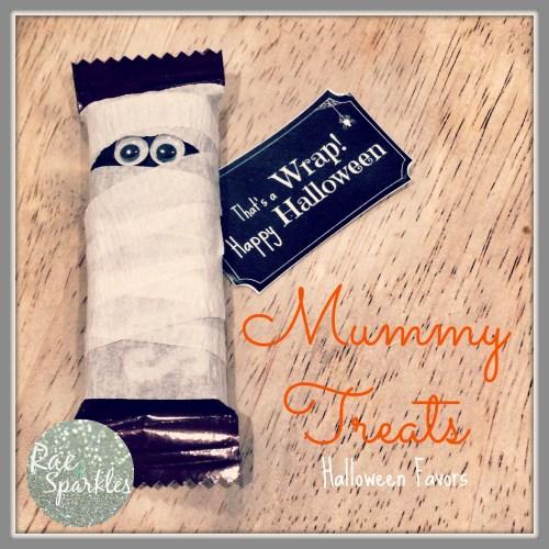 Mummy Hershey Halloween Treats