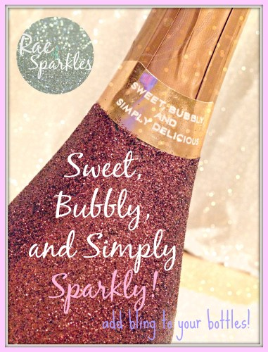 Sparkly Wine or Champagne Bottle Gift