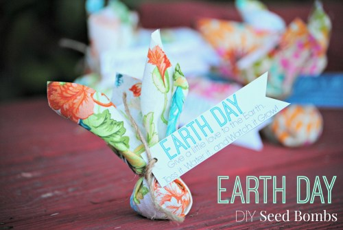 Earth Day // DIY Seed Bombs // Treats or Favors for Earth Day // Free Printable