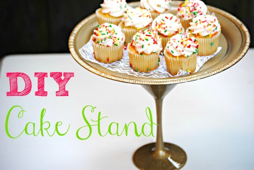 DIY Cake Stand - Simple Dollar Store Cake Stand