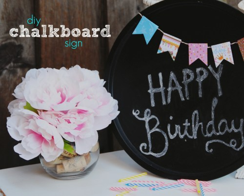 DIY  Chalkboard Sign Dollar Store Products
