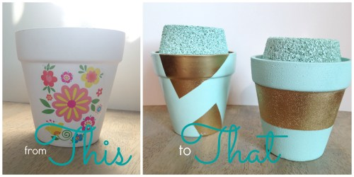 From This To That: Paint Flowerpots with fun designs, make a sucker filled flower pot!