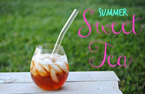 Summer Sweet Tea // Adult Sweet Tea Recipe