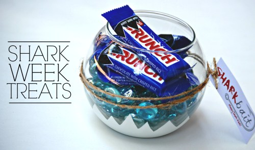 Shark Week Treats // Nestle Crunch Bars // Shark Party Treats