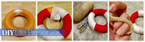 DIY Life Preserver // Nautical Themed Party Decorations