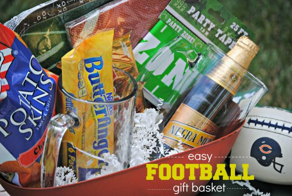 Easy Football Gift Basket Ideas