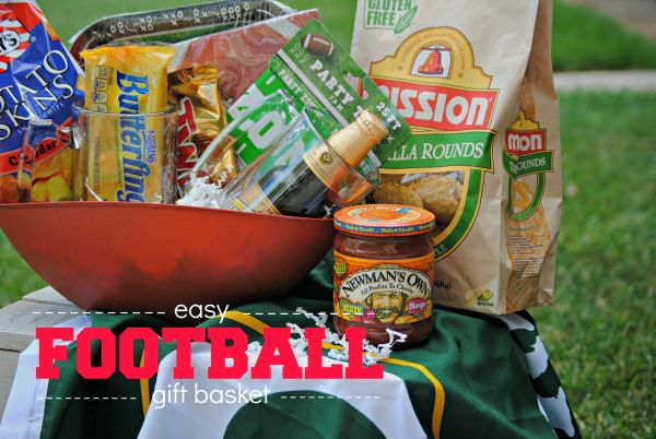 Easy Football Gift Basket