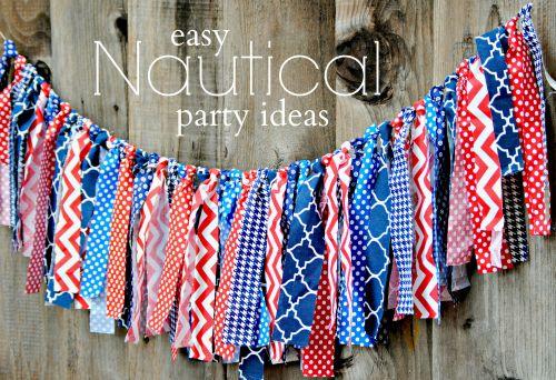 Easy Nautical Party Ideas  Nautical Ribbon Banner
