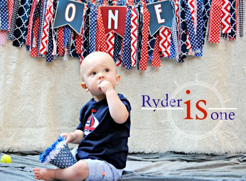 Ryder Is One  Nautical First Birthday